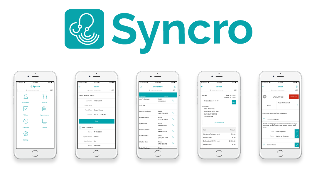 Release Update 11/19/17: Syncro's iOS and Android Apps are Now Available!