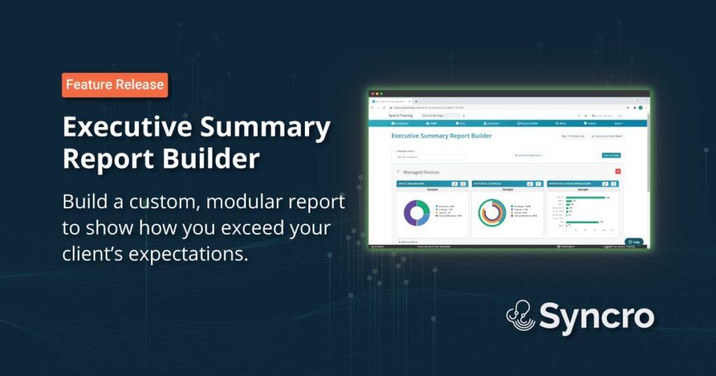 Executive Summary Report Builder